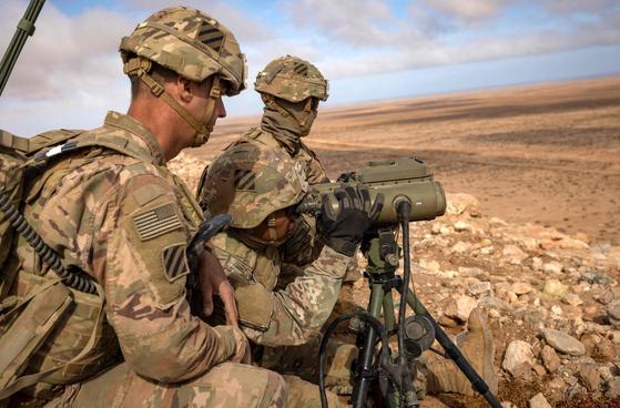 훈련중인 미군의 모습. AFP=연합뉴스