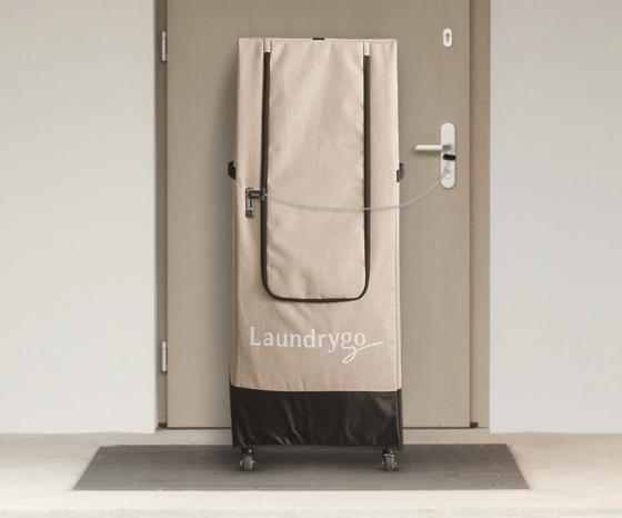 보안이 강화된 비대면 세탁 서비스를 전개하고 있는 '런드리고'. 사진은 개인 세탁물 수거함인 '런드셋'의 모습이다. [사진 런드리고]