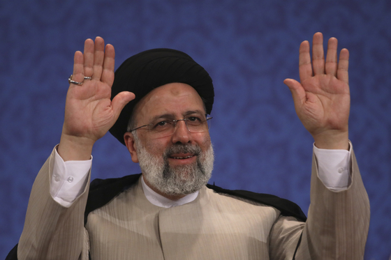 이란의 에브라힘 라이시 대통령 당선인. 8월에 취임한다. AP=연합뉴스