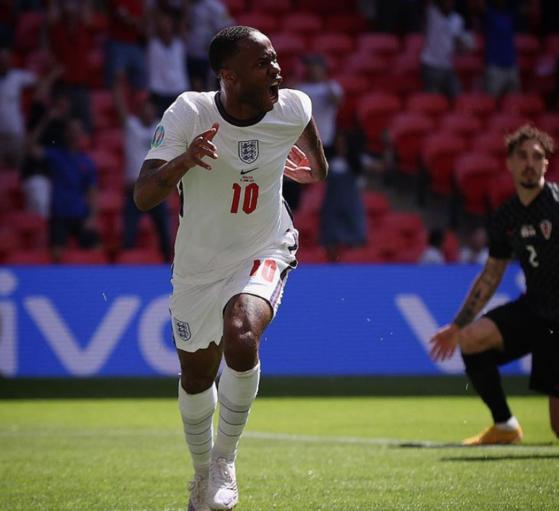잉글랜드 스털링이 유로2020 2경기 연속골 결승골을 기록했다. [사진 잉글랜드축구협회 인스타그램]