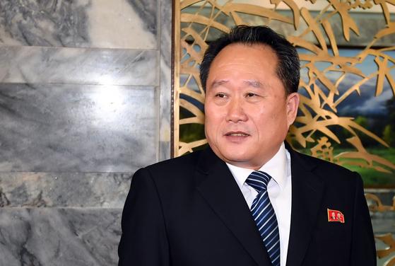 이선권 북한 외무상. 사진공동취재단