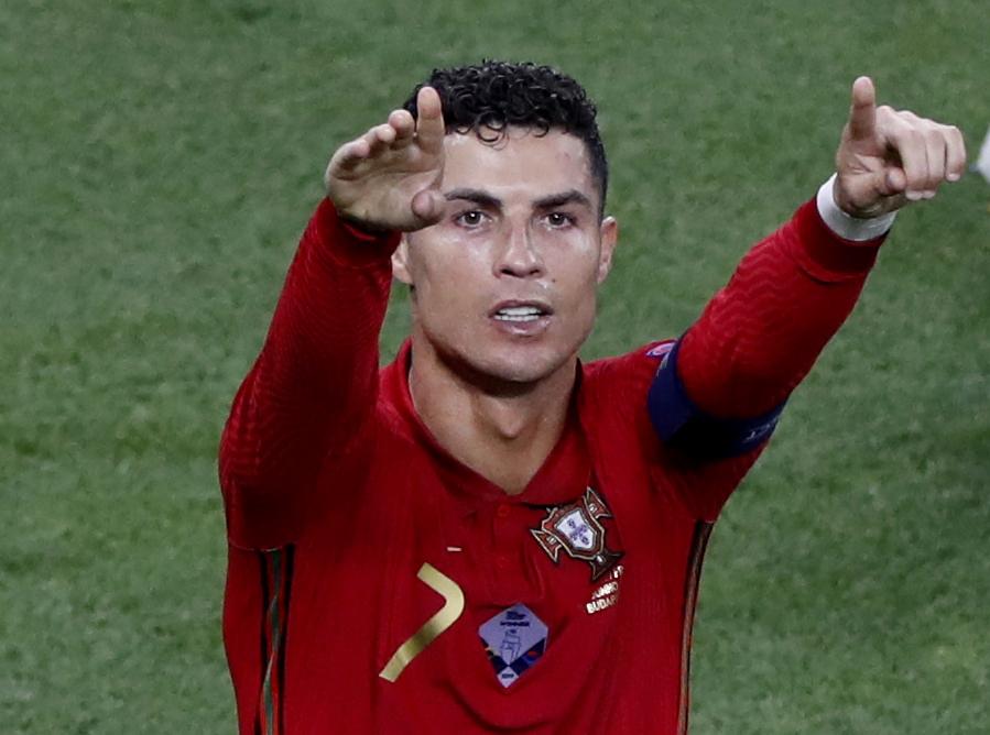 유로2020 프랑스전에서 골 세리머니를 펼치는 포르투갈 호날두. [로이터=연합뉴스]