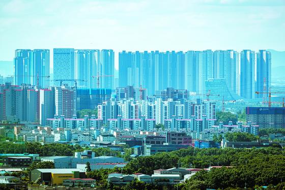 경기도 파주와 고양시의 아파트 단지의 모습. 박종근 기자