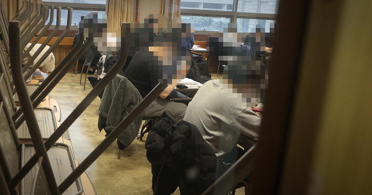 서울 동대문구 한국외국어대학교내 한 강의실. 연합뉴스