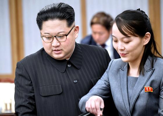 김정은 북한 국무위원장과 김여정 노동당 부부장. 연합뉴스