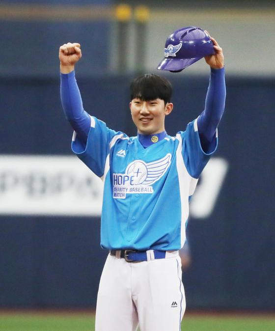 2018년 한국에서 열린 자선 야구대회에 참가한 박효준. 중앙 포토