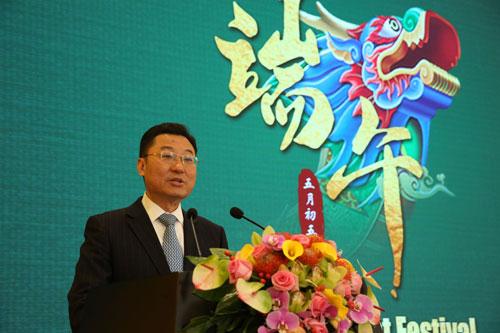 셰펑 중국 외교부 부부장이 지난 12일 중국주재 28개 국가의 외교사절을 초청해 중국 공산당은 어디에서 와 어디로 가고 있나를 주제로 연설하고 있다. [중국외교부 홈페이지 캡처]
