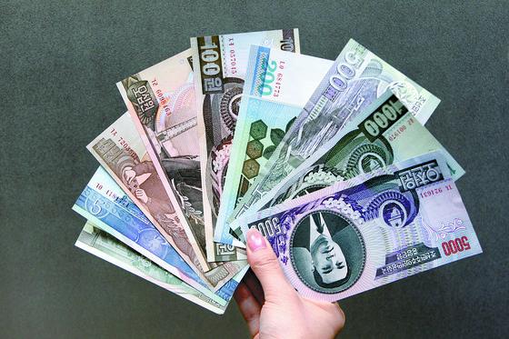 북한 조선중앙은행이 발행한 지폐의 모습. [중앙포토]