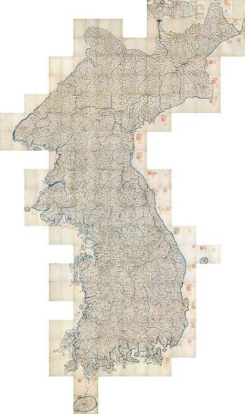 고산자 김정호 선생이 만든 『대동여지도』. [사진 Wikimedia Commons]