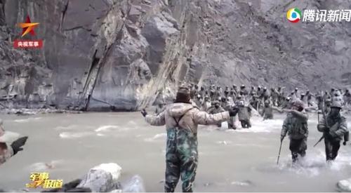 중국 측이 공개한 지난해 6월 중국과 인도간 국경충돌 장면. [CCTV=연합뉴스]