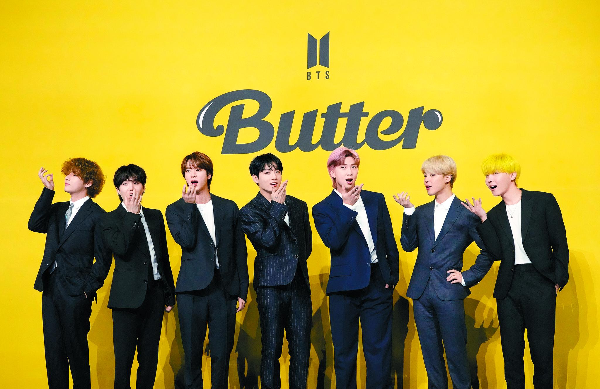 BTS의 버터가 유로2020 준결승과 결승에 울려 퍼진다. [AP=연합뉴스]