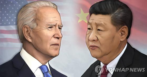 조 바이든 미 대통령은 동맹 중심으로, 시진핑 중국 국가주석은 동반자 관계 국가 중심으로 세(勢)를 모으고 있다. [연합뉴스]