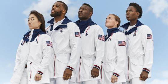 미국대표팀이 도쿄 올림픽 폐막식에서 입을 단복. [사진 랄프로렌]