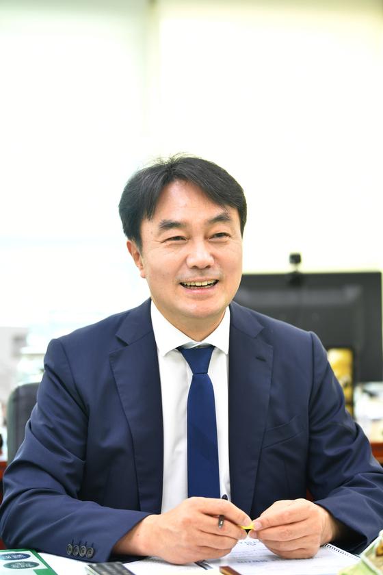 김상호 하남시장이 중앙일보와 인터뷰를 하고 있다. 사진 하남시