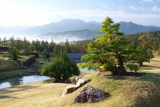 사유원 내 108그루의 모과나무가 있는 '풍설기천년'의 모습. [사진 강위원 작가]