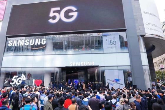 2019년 중국 상하이에 문을 연 삼성전자 매장. [사진 삼성전자]