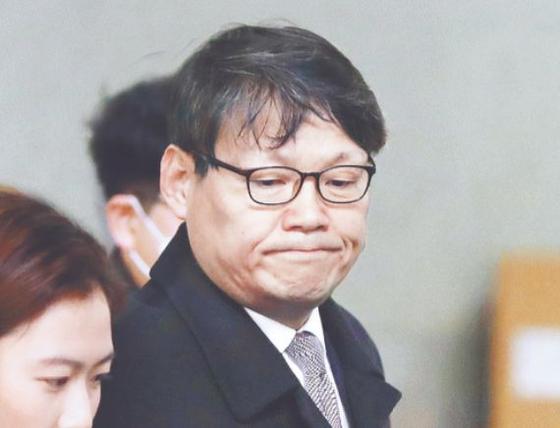 이광철 청와대 민정비서관이 지난 1월 서울중앙지검에 출석하는 모습. 뉴시스