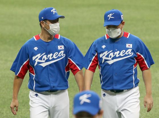강민호와 양의지가 지키는 야구 대표팀 안방은 견고하다. [IS포토]