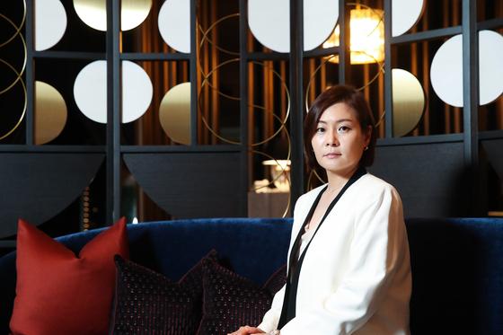 나이트프랭크 최유나 한국 대표가 14일 서울 강남대로 '갤러리832' 라운지에서 중앙일보와 인터뷰했다. 우상조 기자