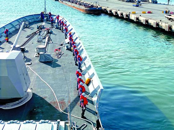 문무대왕함 출항, 9월 12일께 진해 도착