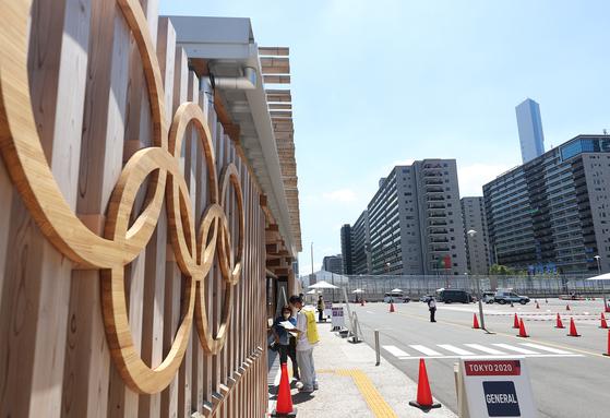 일본 도쿄 하루미 지역 올림픽선수촌. 연합뉴스