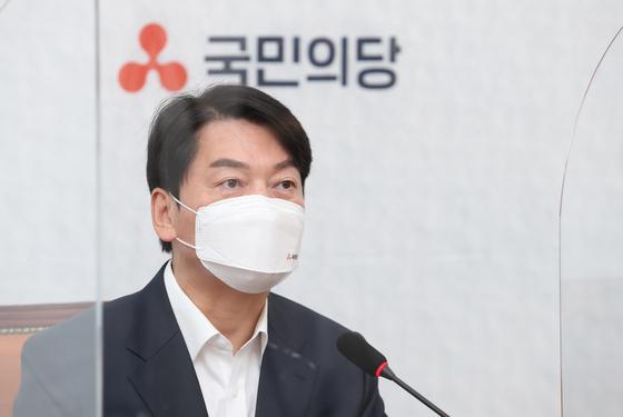안철수 국민의당 대표가 22일 오전 국회에서 열린 최고위원회의에서 모두발언을 하고 있다. 임현동 기자