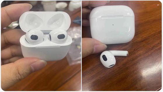 애플이 하반기 출시할 것으로 알려진 에어팟3 유출 이미지. [사진 LeaksApplePro 트위터]