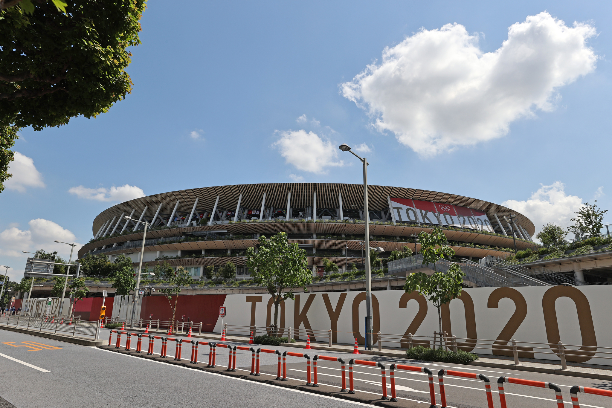 2020 도쿄올림픽 개막식을 하루 앞둔 22일 오전 일본 도쿄 올림픽스타디움에 일반인의 출입이 통제되고 있다. 개막식은 무관중으로 진행되고 일본 정부와 도쿄올림픽 조직위원회가 초청한 관계자 약 950명 정도가 참석한다. 도쿄=올림픽사진공동취재단