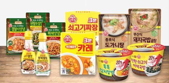 ㈜오뚜기는 지역식 탕·국·찌개 HMR, 컵밥 등 맛과 편의성을 갖춘 제품으로 캠핑족을 공략하고 있다. [사진 ㈜오뚜기]