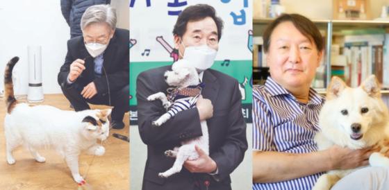 댕댕이 안고 '찰칵'…유력 대선주자들 1500만 '펫심' 겨냥