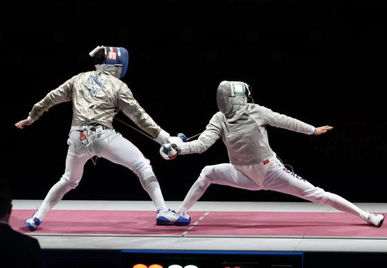 [속보] 펜싱 남자 사브르 단체전 금…이탈리아 꺾고 런던올림픽 이어 2연패