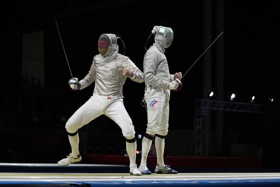 독일 막스 하르퉁(왼쪽) 선수의 러시아와 경기 모습. AP=연합뉴스