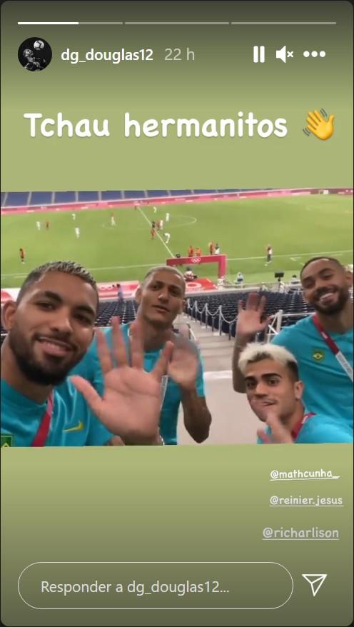 올림픽 남자축구 브라질 대표팀의 더글라스 루이즈가 개인 SNS로 아르헨티나 탈락을 조롱했다. 사진=더글라스 루이즈 인스타그램 캡처