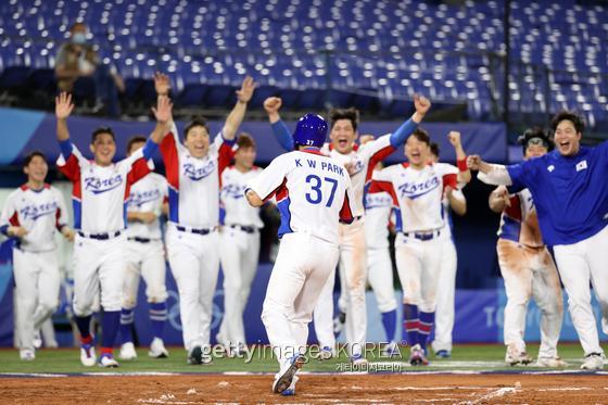 한국 야구 대표팀이 이스라엘에 신승을 거뒀다. 게티이미지