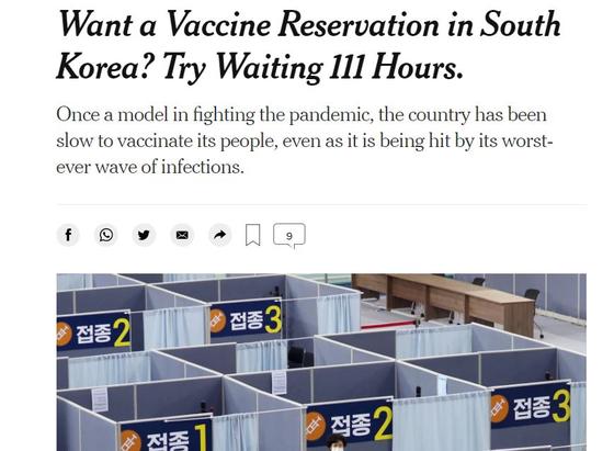 뉴욕타임스 캡처, 연합뉴스