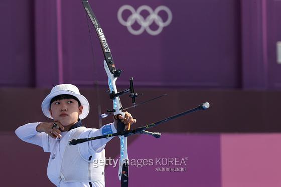 2020 도쿄 올림픽 여자양궁 막내 안산. 사진=게티이미지