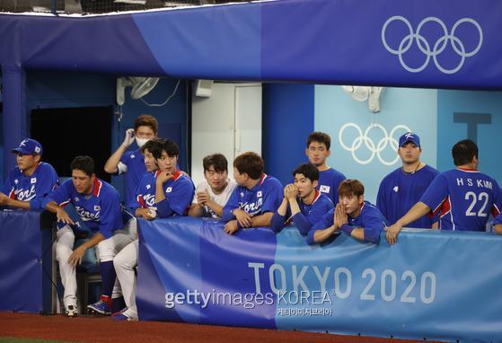 한국 야구가 미국에 패했다. 게티이미지