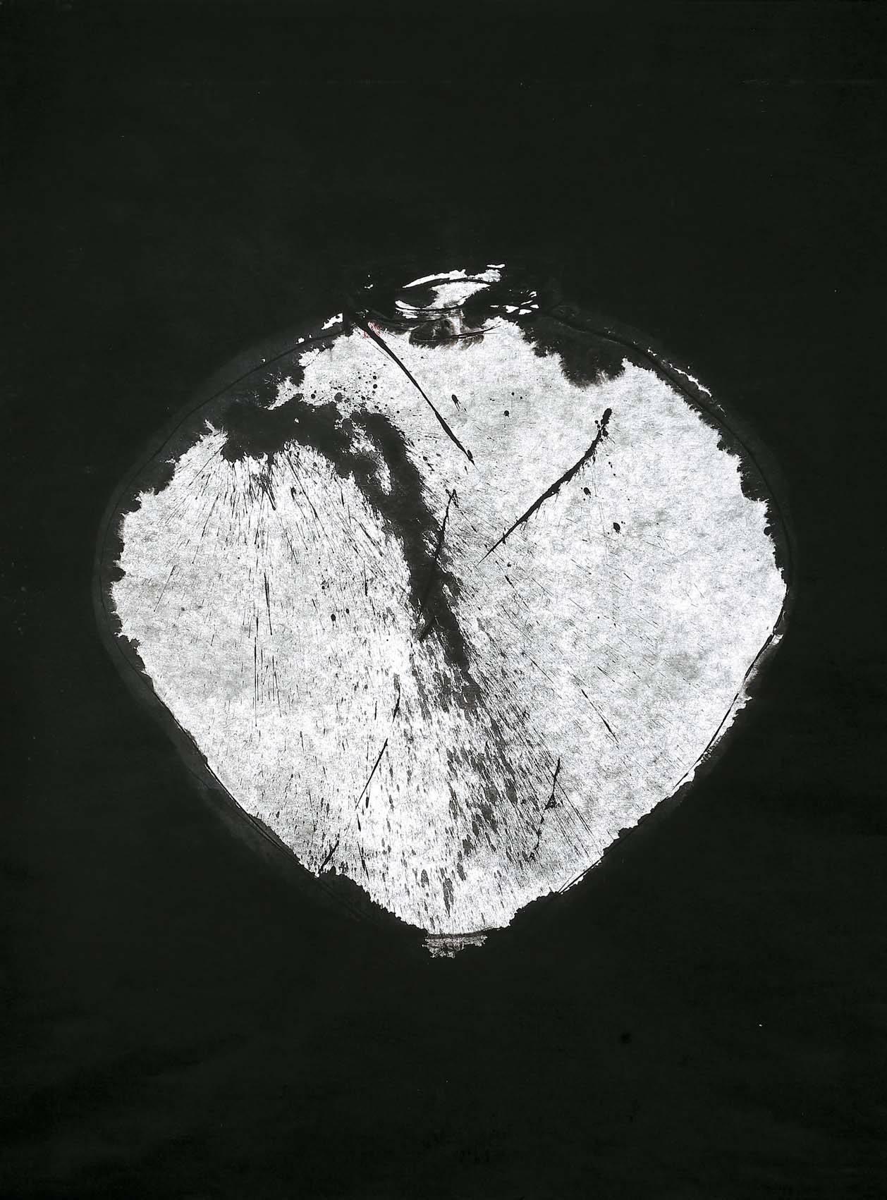 '월인천강 3319'(2016), 한지에 먹, 140 x 200 cm