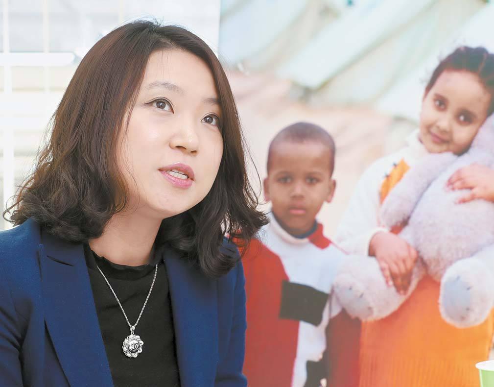 """김수현 소장은 """"지금 이순간에도 수많은 '쿠르디'가 죽어가고 있다""""며 시리아 등 분쟁지역 아동에 대한 긴급 인도지원을 강조했다. 최정동 기자"""