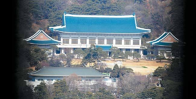 박근혜 대통령 취임 4주년을 맞은 25일 청와대의 모습. [뉴시스]