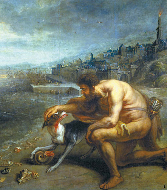 그림 1 테오도르 반 툴덴, '자주색의 발견', 17세기.