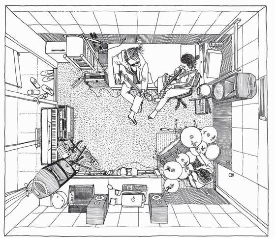 작지만 음악 작업에 필요한 모든 걸 갖춘 서울 삼청동 작업실에서 '전인권 밴드'가 호흡을 맞췄다.