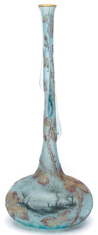 돔 형제가 만든 '장미 무늬 화병'(1900)