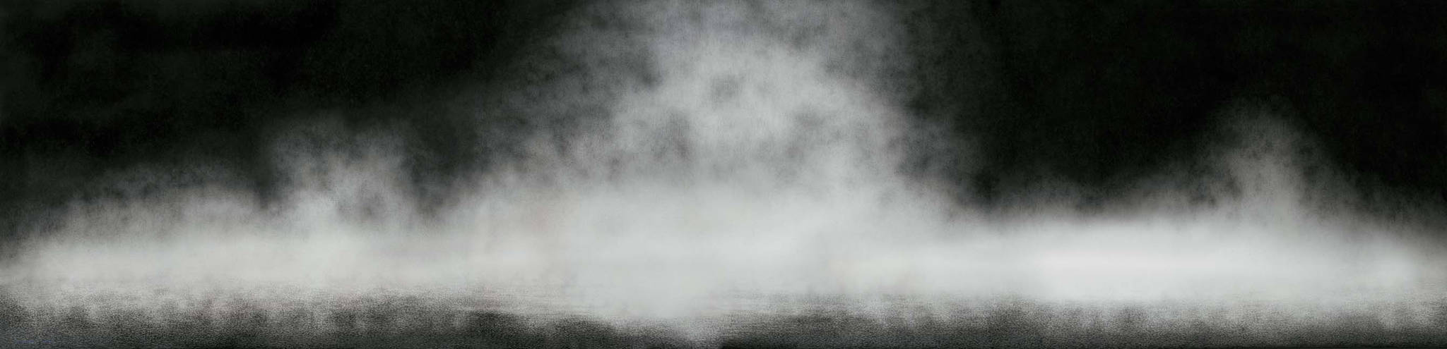 Moonscape 달빛(2016), 194x777cm, Charcoal on Canvas