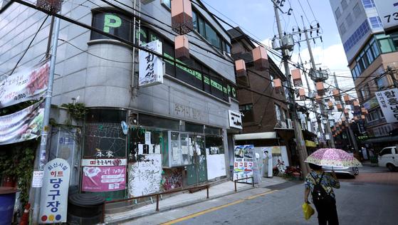 임대료 인상 문제로 폭력 사태를 불러왔던 서울 서촌 궁중족발이 있던 자리. [신인섭 기자]