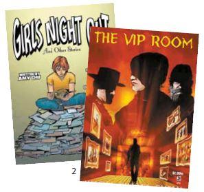 에이미 추가 공동대표로 있는 만화 출판사 '알파 걸스 코믹스'에서 발행한 만화책 '걸스 나잇 아웃'(Girls Night Out)과 'VIP 룸'(The VIP Room)
