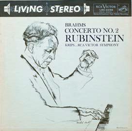아르투르 루빈슈타인이 연주한 브람스 피아노협주곡 2번. 요제프 크립스가 지휘한 리빙 스테레오 음반이다.