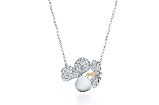 옐로 다이아몬드 반딧불이 펜던트