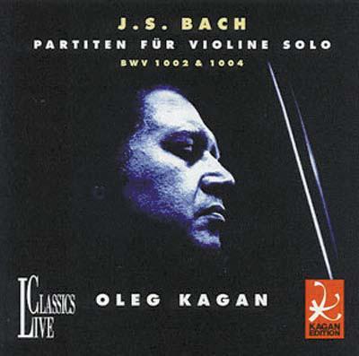 올레그 카간의 1979년 실황을 녹음한 바흐의 무반주 바이올린 중 두 개의 파르티타.