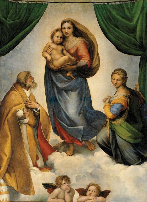 독일 드레스덴 츠빙거 궁 미술관에 소장된 라파엘로의 '시스틴의 마돈나'. 도스토옙스키는 드레스덴에 거주할 당시 종종 미술관을 찾아와 특히 이 그림을 넋을 잃고 바라보곤 했다.